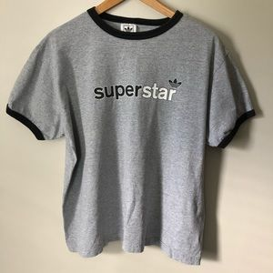 Adidas Superstar Trefoil Tee Gray L
